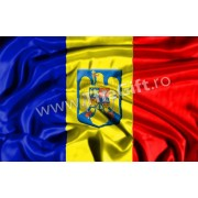 Drapelul, steagul Romaniei, cu stema