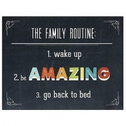 Family Routine Wall Art Print 24x18 Kid's Wall Art Kid's Room Decor Be Amazing Typography Nursery Decor Gender Neutral Children's Room Decor Family Room Motivational Word Art