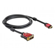 DeLock High Speed HDMI A male > DVI-D (Single Link) male cabel 2m Black 84342