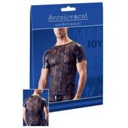 Svenjoyment Shirt mit Wetlook & Spitze (L)