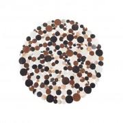 Beliani Tapete marrom - Pele genuína - 140 cm de diâmetro - SORGUN