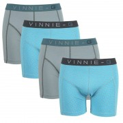 Vinnie-G boxershorts Wave Dark-Print 4-pack -XL