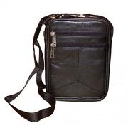 Style98 Black Genuine Leather Travel Messenger Bag For Men,Boys,Girls & Women