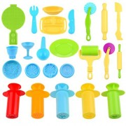 Kare & Kind Set of 24 pcs Smart Dough Tools Kit with Extruders / Dough Tools / Models and Molds (Extruder tools + Breakfast tools set + dough tools)
