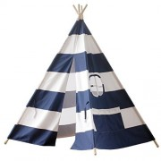 Loisleila Children Teepee Kids Play Tent Indian Tent for Kid Indoor Play Ground Play House Tents Kid Outdoor Garden Tent (blue strip)