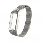 Magnetic Milanese Metal Steeless Bracelet Wrist Strap for Xiaomi Mi Band 3 - Grey
