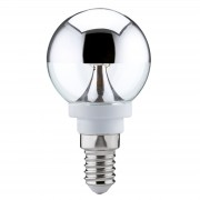 E14 2,5W 827 LED half mirror globe, warm white
