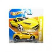 2010 Hot Wheels (Yellow) FERRARI 458 ITALIA #39/214