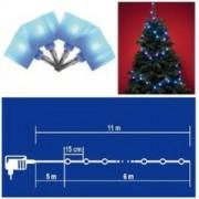 LED-es kocka fényfüzér, kék, 8 pr.