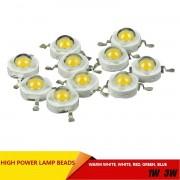 10pcs / lot Epistar High Power 1W / 3W led chips beads bulb diode lamp Warm white / white / red / blue / green for LED Spotlight