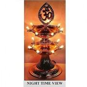 2 Layer New Electric Gold LED Bulb Lights Diya/Deep/Deepak for Pooja/Puja/Mandir Diwali Festival Decoration