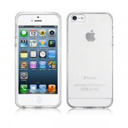 Capa de silicone para iPhone 5 / 5S / SE - Geada Branca