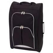 Geen Handbagage reiskoffer/trolley zwart 55 cm