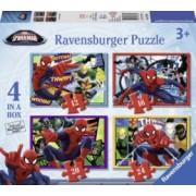 PUZZLE SPIDERMAN 4 BUC IN CUTIE 12162024 PIESE Ravensburger