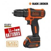 Trapano avvitatore a batteria compatto 10,8V Litio Black&Decker - BDCDD12