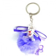 Faynci Love Blue Cute Doll Key Chain with Blue Twin Heart Shape for Fashion