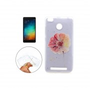 Para Xiaomi Redmi 3s Patron De Flor Suave Tpu Protector Transparente Volver Funda