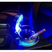 Geurloze Auto Asbak met led verlichting incl BATTERIJ