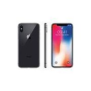 iPhone X Cinza Espacial 64GB Tela 5.8 IOS 11 4G Wi-Fi Câmera 12MP - Apple