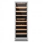 Gran Reserva Garrafeira Refrigerada de Vinho 166 Garrafas 379 Litros 2 Zonas Ecrã Táctil Aço Inox