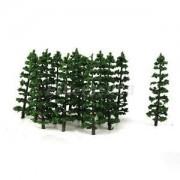 Alcoa Prime HO N Model Train Layout Tree Forest Landscape Street Scenery Fir Trees 20PCS