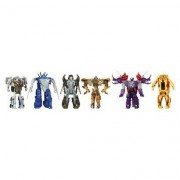 Transformers Transformers Age of Extinction MV4 One Step Magic 6Packs Collection Set- Exclusive- 2 robot-to-dino figures and 4 robot-to-vehicle figures-Plastic- No battery used