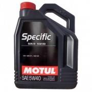 Ulei motor Motul Specific 505 01-502 00, 5W-40, 5L, Diesel-Benzina, Sintetic
