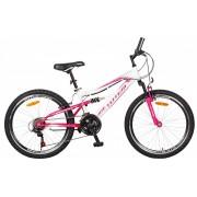 TOTEM Mountainbike Jugendvelo 24´´ weiss/pink