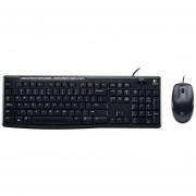 Kit Teclado Y Mouse Logitech MK200 Alambrico USB (920-002716)-Negro