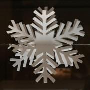 Decoratieslinger Sneeuw 2mtr 12 vlokken