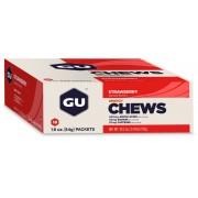 GU Energy Chews Sportvoeding met basisprijs Aardbei met cafeïne 24 x 54g beige/rood 2018 Sportvoeding