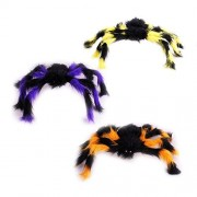 Ovovo Colorful Spider Prop Realistic Hairy Spider for Halloween Decoration Haunted House Party Favors Prank Kit