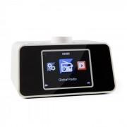 "i-snooze Internetradio Radiowecker WLAN USB 3,2"" TFT-Farbdisplay weiß Weiß"