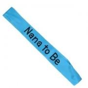Alcoa Prime New Grandma NANA TO BE Blue Satin Ribbon Sash Baby Shower Party Decoration