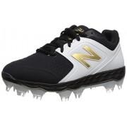 New Balance Women's Velo V1 Molded Baseball Shoe, black/black, 10.5 D US