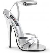 Devious Hoge hakken -40 Shoes- DOMINA-108 US 10 Zilverkleurig