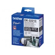 Brother Consumible Original Brother DK22210 Cinta continua de papel térmico (blanca). Ancho: 29 mm. Longitud: 30,48 mpara impresoras etiquetas QL