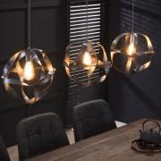 LUMZ Hanglamp van gedraaid metaal 3L