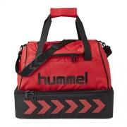 hummel Sporttasche AUTHENTIC- mit Bodenfach - true red/black | S