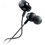 CANYON Stereo earphones with microphone, metallic shell, 1.2M, dark gray