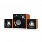 SPEAKER, GENIUS SW-2.1 370, 8W RMS, 6W+2x1W, Wooden, Brown (31731067102)