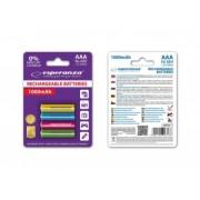 Esperanza EZA107 Baterii reîncărcabile Ni-MH AAA 1000MAH x4