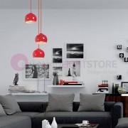 GRUPO NOVOLUX Estikla Lampada A Sospensione In Acciaio A 3 Luci Design Moderno