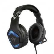 Слушалки с микрофон TRUST GXT 460 Varzz Headset, Blue illuminated, жични, 3.5mm/USB, 23380