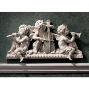 Design Toscano Angelic Notes Sculptural Wall Pediment Figura Decorativa de ángel, Set de 2, Juego de 2, 1