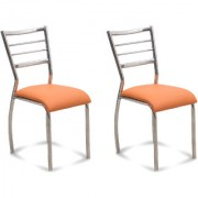 Fabsy Interior - Classy Stainless Steel Chair In Orange By Fabsy Interiors (Buy 1 Get 1 Free)