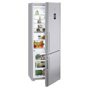 Combina frigorifica Liebherr CNPesf 5156, 453 L, No Frost, Display, Control electronic, Alarma usa, Raft sticle, SuperCool, H 202 cm, A++, Inox, finisaj Antiamprenta