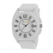 Crayo Sunset Unisex Watch w/Magnified Date - White CRACR3301
