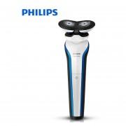 Afeitadora eléctrica profesional Philips S566 recargable 2 cuchillas rotar Afeitadora eléctrica cara barba Afeitadora eléctrica para hombres mojado y seco(Philips-S566)