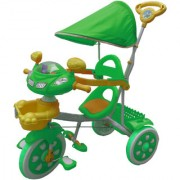 Oh Baby Baby Helicopter Bike Musical With Tubeless Tyre 2 In 1 Function Green Color Tricycle For Your Kids SE-TC-46